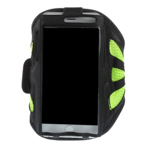 Green Gym Jogging Mesh Armband Pouch for iPhone 6 Plus / 6s Plus Galaxy Note 4