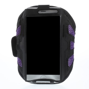 Purple Gym Jogging Mesh Armband Pouch Cover for iPhone 6 Plus / 6s Plus Galaxy Note 4