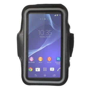 Running Jogging Sports Gym Armband Case for Sony Xperia Z2 D6502 D6503 D6543 - Black