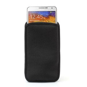 Black Soft Cloth Pouch Bag for Samsung Galaxy Note 3 N9005 / Note 2 N7100 etc, Size: 16 x 8.8cm