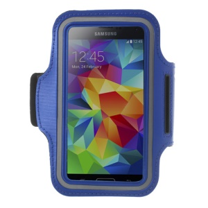 Running Jogging Sports Gym Armband Pouch Case for Samsung Galaxy S5 G900 / A5 SM-A500F / Sony Xperia M2 - Dark Blue