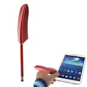 Red Retro Quill Style Feather Capacitive Screen Stylus Touch Pen for iPhone iPad Samsung Sony Nokia
