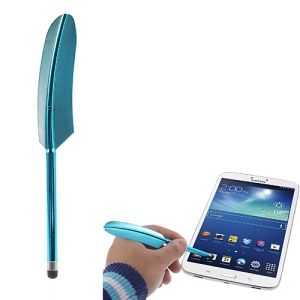 Baby Blue Retro Quill Style Feather Capacitive Screen Stylus Touch Pen for iPhone iPad Samsung Sony Nokia