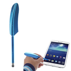 Dark Blue Retro Quill Style Feather Capacitive Screen Stylus Touch Pen for iPhone iPad Samsung Sony Nokia