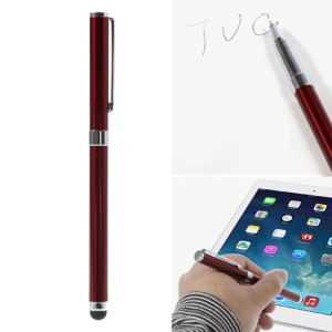 Red Multi-functional Ballpoint & Stylus Pen for Capacitive Touch Screen Devices 14cm