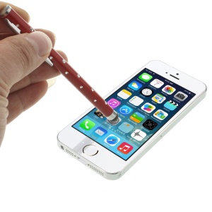 Diamante Capacitive Touch Screen Stylus Pen for iPhone iPad Samsung Sony Etc - Red