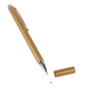 Gold Capacitive Screen Stylus Touch Pen w/ Precision Disc for iPhone 6 iPad Samsung LG Smartphone Tablet