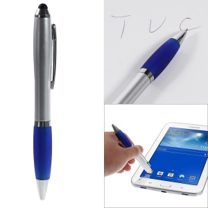 2-in-1 Capacitive Screen Stylus Touch Pen + Ballpoint Pen for iPhone iPad Samsung Sony HTC etc - Blue