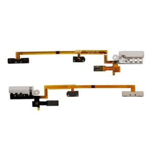 Audio Headphone Jack w/ Power Volume Key Flex Cable for iPod Nano 6th Gen - White