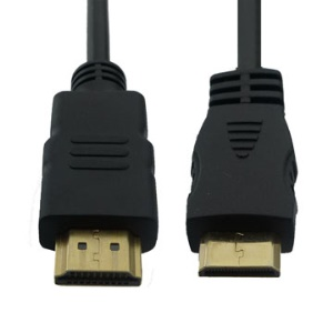 Mini HDMI Male to HDMI Male Gold Color Cable(1.8M)