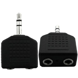 Brand New 3.5mm Male to 2 Female Adapter