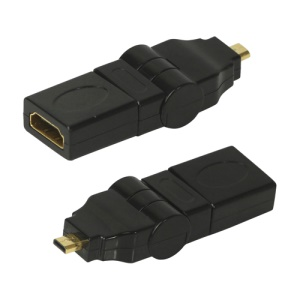 Micro HDMI Male to HDMI Female 90 180 Degree Swiveling Right Angled Adapter