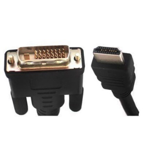 HDMI 19Pin Male to DVI 24+1 Pin Male lead (1.5m);normal quality