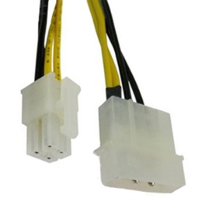 Motherboard 12V P4 4-pin to Molex 4-pin power Adapter Cable