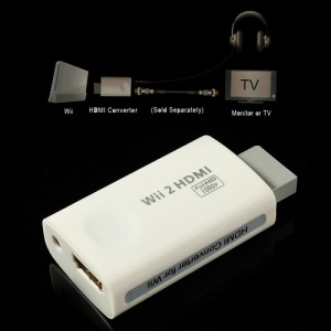 Wii to HDMI 3.5mm Audio Full HD 720P 1080P Converter Adapter for Wii Game
