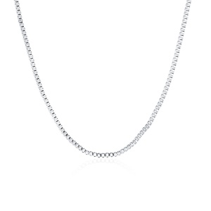 LKNSPCC007-18 Fashion Platinum Plated Unisex Snake Chain Necklace for Men Women - Length: 18 inch