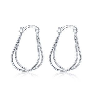 E667 Classic Amazing Geometric Shaped Silver Plated Copper Earrings for Ladies Girls