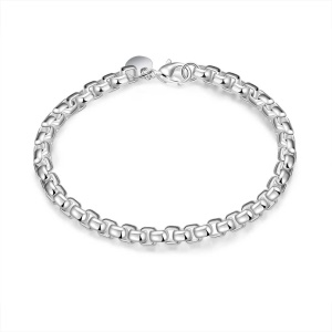 H157 Latest Women Classy Silver Color Plated Copper Popcorn Chain Charm Bracelet, Length: 19cm