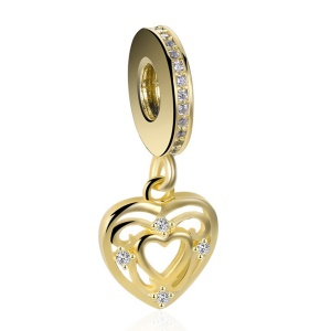 Zirconia Heart / Gold