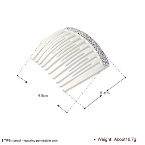 PEINIC0002 Hollowed Teeth Stylish Women Hair Clip Side Comb Hair Accessory - White