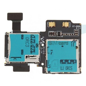 SIM Card and Memory Card Connector Flex Cable for Samsung I9500 Galaxy S4 IV