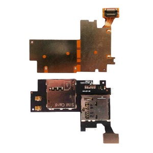 For Samsung Galaxy Note 2 LTE N7105 SIM Card Connector and Memory Card Holder Flex Cable (OEM)