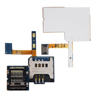SIM Card and Memory Card Connector Flex Cable for Samsung S5690 Galaxy Xcover