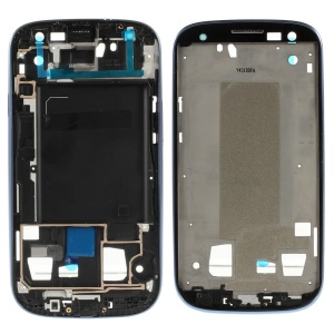 Front Housing Frame Bezel Plate for Samsung Galaxy S 3 iii OEM - Blue