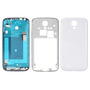 Full Housing Frame Middle Plate and Battery Cover for Samsung Galaxy S4 S IV i9500 OEM - White