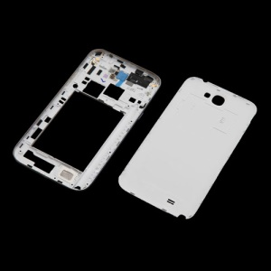 Back Cover Housing and Middle Plate for Samsung Galaxy Note II N7100 - White