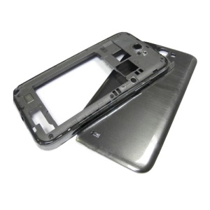 For Samsung Galaxy Note II N7100 Back Cover Housing w/ Middle Plate - Grey
