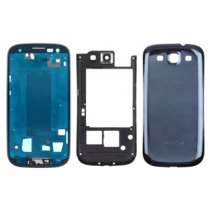 Middle Frame Bezel + Middle Plate + Battery Cover Full Housing Cover for T-Mobile For Samsung Galaxy S3 T999 (OEM)