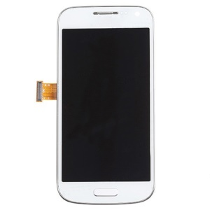 White OEM LCD Screen and Digitizer Assembly with Front Housing for Samsung Galaxy S4 mini GT-I9195 LTE