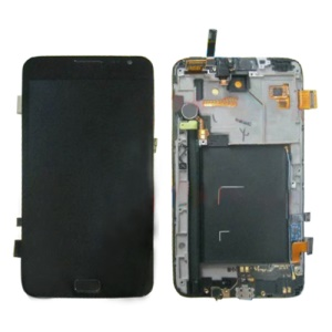 For Samsung Galaxy Note i9220 N7000 LCD Screen with Digitizer and Small Parts OEM - Black