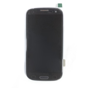 Blue LCD Screen and Digitizer Assembly w/ Front Housing for Samsung I9305 Galaxy S3 LTE