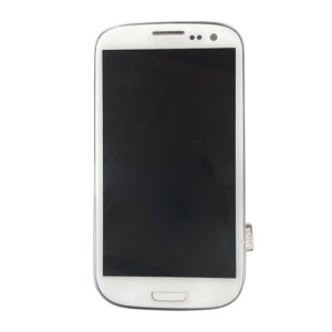 White for Samsung I9305 Galaxy S3 LTE LCD Screen and Digitizer Assembly w/ Front Housing