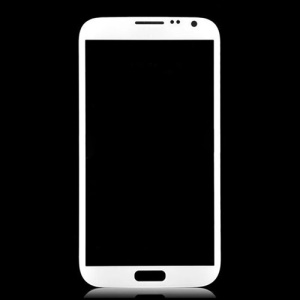 Front Screen Glass Lens for Samsung Galaxy Note ii N7100 - White