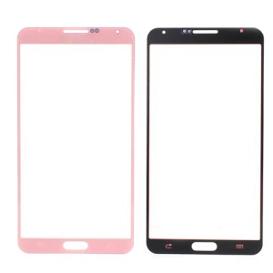 Pink Grid Pattern Front Glass Screen Lens for Samsung Galaxy Note 3 N9005