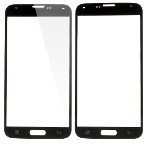 High Quality Front Outer Screen Glass Lens Repair Part for Samsung Galaxy S5 SV GS 5 - Black