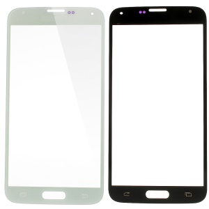 High Quality Front Outer Glass Lens Repair Part for Samsung Galaxy S5 SV GS 5 - White