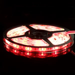 RGB 5050 5m SMD Multicolored LED Light Strip DC 12V with LED Controller + AC Charger Adapter,IP65 Waterproof Grade;60LEDS/M,8.6W/M