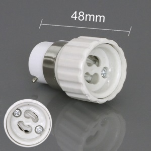 GU10 to B22 CLF LED Light Bulb Lamp Adapter Converter, Length: 48mm