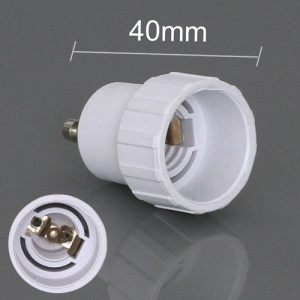 E14 to GU10 CLF LED Light Bulb Lamp Adapter Converter, Length: 40mm