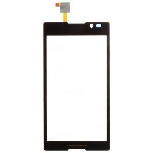 OEM LCD Digitizer Touch Screen with Adhesive for Sony Xperia C C2305 S39h - Black