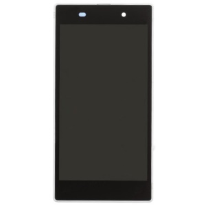 White OEM LCD Screen and Digitizer Assembly with Front Housing for Sony Xperia Z1 L39h C6903 Honami
