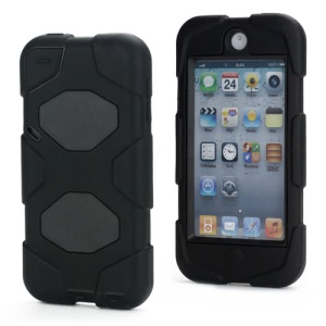 New Survivor Impact Hybrid Hard Case for iPod Touch 5 with Screen Protector - Black
