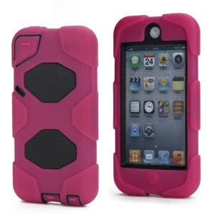 New Survivor Impact Hybrid Hard Case for iPod Touch 5 with Screen Protector - Black / Rose