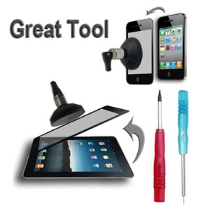Touch Screen Dismantle Tool with T4 Pentagon Screwdrivers for iPad