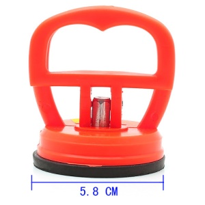 Orange Suction Cup Dent Puller Smartphone Glass Panel Repair Tool, Size: 5.8 x 6.5cm