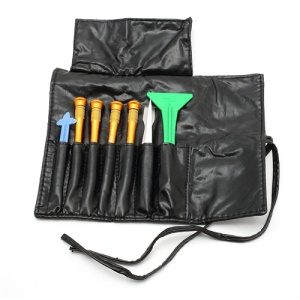 8 in 1 Screwdrivers Pry Opening Repair Tools Kit Set with Roll Leather Pouch for iPhone 4 4S